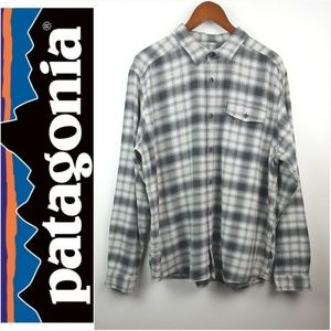 PATAGONIA|Long Sleeve Flannel Shirt Gray Sz Large